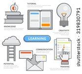 flat line design of learning... | Shutterstock .eps vector #319830791