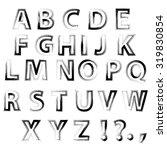 vector sketch alphabet isolated ...   Shutterstock .eps vector #319830854