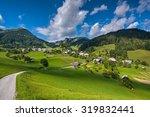 Mountain Village On A Sunny...