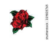 vector red rose flower. | Shutterstock .eps vector #319835765
