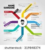 minimalist cv  resume template... | Shutterstock .eps vector #319848374