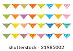 set of colored holiday flags... | Shutterstock .eps vector #31985002