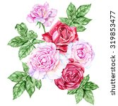 large bouquet of red and pink... | Shutterstock . vector #319853477
