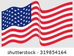 waving american flag  | Shutterstock .eps vector #319854164