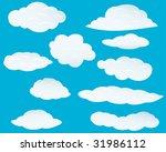 set of vector clouds background ... | Shutterstock .eps vector #31986112