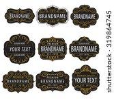 vintage  calligraphic  frames... | Shutterstock .eps vector #319864745