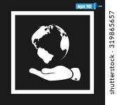 hand  globe   Shutterstock .eps vector #319865657