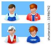 people icon : boy and teenage - stock vector