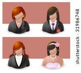 people icon : female - stock vector