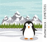 merry christmas concept with... | Shutterstock .eps vector #319872521