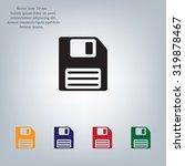 floppy disk icon | Shutterstock .eps vector #319878467