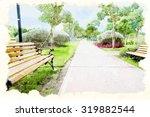 Watercolor Painting Park.