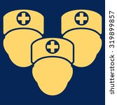 medical staff vector icon.... | Shutterstock .eps vector #319899857