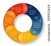 vector round infographic... | Shutterstock .eps vector #319911614