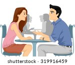 illustration of a man and woman ... | Shutterstock .eps vector #319916459