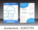 abstract brochure design.flyer... | Shutterstock .eps vector #319917791