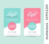 gift voucher template gift... | Shutterstock .eps vector #319921205