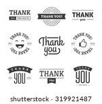 set of black thank you text... | Shutterstock .eps vector #319921487
