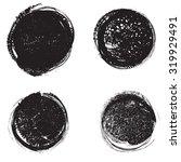 set of grunge rubber texture... | Shutterstock .eps vector #319929491
