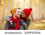 cute girl looking at her... | Shutterstock . vector #319933934