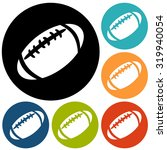 american football icon isolated   Shutterstock . vector #319940054