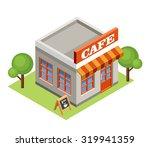 isometric cafe. raster... | Shutterstock . vector #319941359