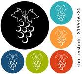 grapes icon   Shutterstock . vector #319946735