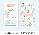 wedding invitation  thank you... | Shutterstock .eps vector #319956455