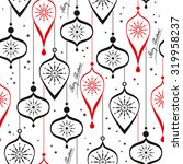 seamless christmas pattern | Shutterstock .eps vector #319958237