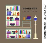 bookstore. books  science ... | Shutterstock .eps vector #319965467