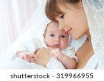 mother and baby playing and... | Shutterstock . vector #319966955