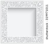 abstract square lace frame with ... | Shutterstock .eps vector #319971011