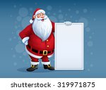 merry santa claus standing with ... | Shutterstock .eps vector #319971875