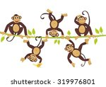 Cheerful Monkeys Frolic On A...