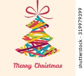 decorative christmas tree with... | Shutterstock .eps vector #319979399