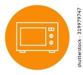 microwave oven linear icon. | Shutterstock .eps vector #319979747