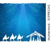 christian christmas scene on... | Shutterstock .eps vector #319981241
