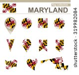 maryland flag collection  usa... | Shutterstock . vector #319982084