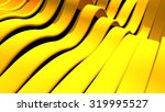 bright yellow and orange wavy...   Shutterstock . vector #319995527