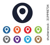place pin vector icon for web...