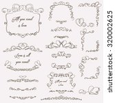 hand drawn swirls with hearts | Shutterstock .eps vector #320002625