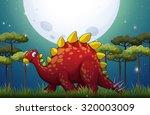 dinosaur in the field on... | Shutterstock .eps vector #320003009