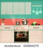 overlooked roast chicken in an...   Shutterstock . vector #320004275