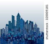 vector abstract city skylines | Shutterstock .eps vector #320005181