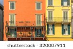 colorful houses. verona  italy. | Shutterstock . vector #320007911