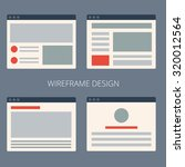 vector set of flat website... | Shutterstock .eps vector #320012564