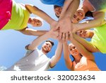 fitness  sport  friendship and... | Shutterstock . vector #320023634