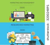 marketing and management.... | Shutterstock . vector #320024891