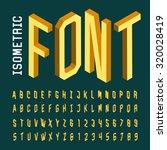 Alphabet Font. 3d Isometric...