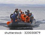 lesvos  greece  september 24 ...   Shutterstock . vector #320030879
